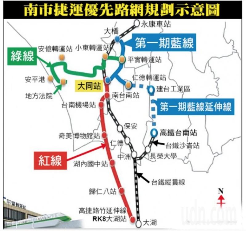 台南捷運第一期藍線已進行綜合規畫階段。圖/台南市交通局提供