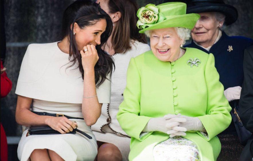 梅根曾是最討女王伊莉莎白二世歡心的孫媳婦。圖/路透資料照片