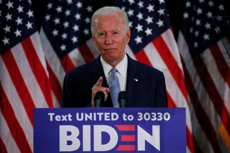 美國民主黨參選人拜登5日正式取得總統候選人提名資格。路透