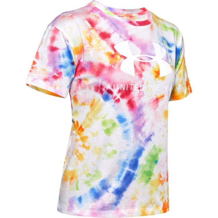 UA Pride系列女裝T恤1,280元。圖/UNDER ARMOUR提供