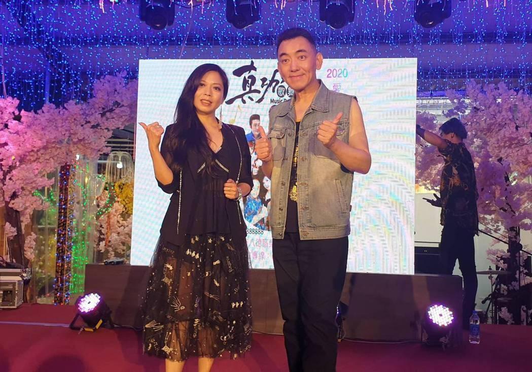 盧靚和徐亨今晚登台迎賓。記者李姿瑩/攝影