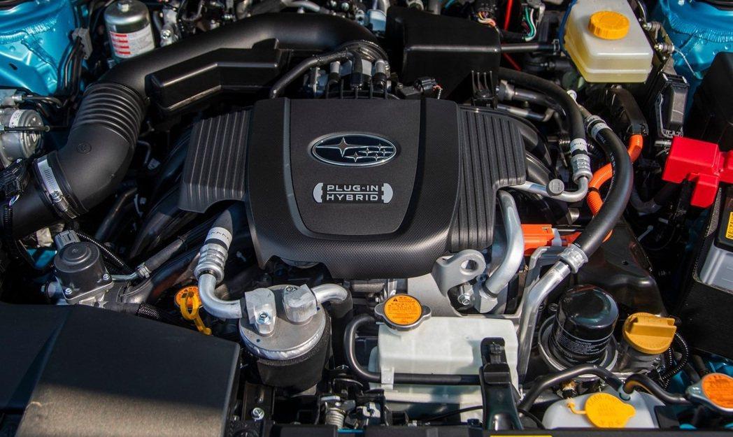 由Toyota技術支援的PHEV系統與FB20V水平對臥NA引擎。 摘自Suba...