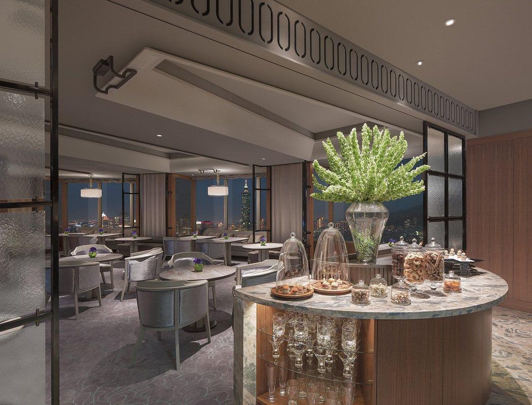 香格里拉台北遠東國際大飯店-豪華閣貴賓禮遇包含豐盛早餐、全天候輕食飲品、晚間雞尾...