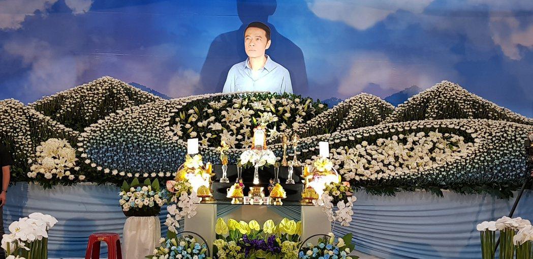 吳朋奉告別式在新北市殯儀館舉行。圖/金熙國際提供