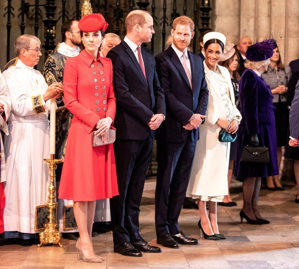 英皇室兩位王子的妻子被傳不合、有心結已久,近日雜誌報導更造成話題。圖/路透資料照