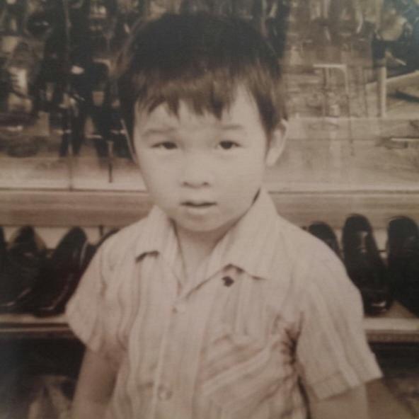 童年時的陳鎮川。 圖/陳鎮川提供