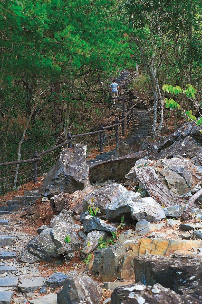 「捎來步道」沿山勢而建,步道沿途綠意盎然,四季皆有不同美景。 圖/參山國家風景區...