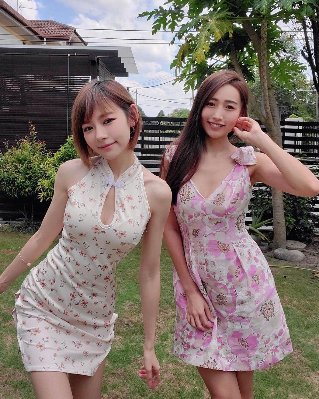 林明禎(左)與姊姊林詩枝都是美人胚子。圖/摘自IG