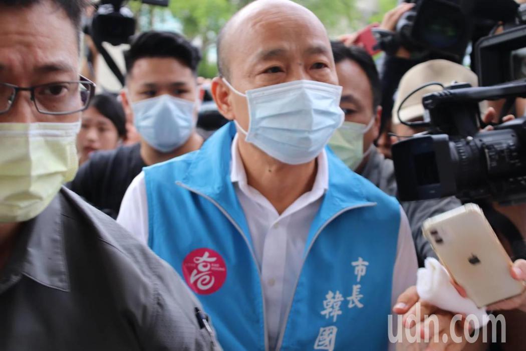 被罷免成功的高雄市長韓國瑜。記者邱奕能/攝影