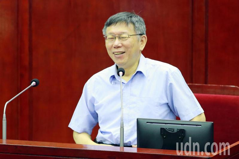 台北市長柯文哲今天赴市議會總質詢。聯合報記者許正宏/攝影