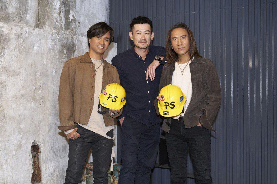 尤秋興(左)自爆曾把柯叔元(中)當成是女生,右為顏志琳。圖/華研國際提供