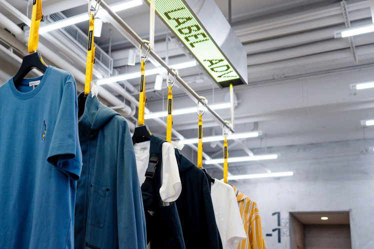 ADV_LABEL的第一家概念店,透過店裝的形式,傳遞了運輸、物流的概念。圖/P...