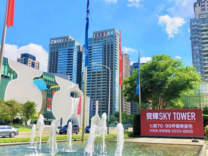 七期市政路周邊豪宅新案,今年由寶輝建設擔任領頭羊,於市政路、惠文路口推出「寶輝Sky Tower」。 記者宋健生/攝影