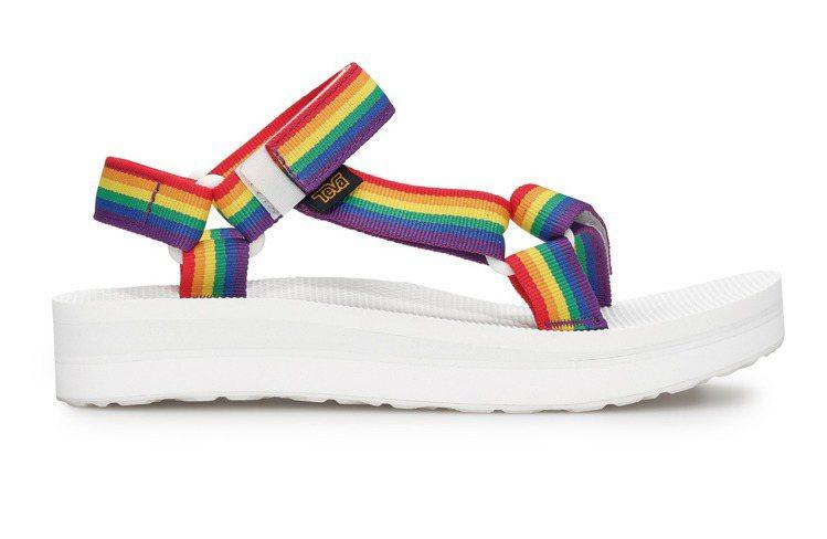 TEVA Midform Universal Rainbow Pride系列涼鞋...