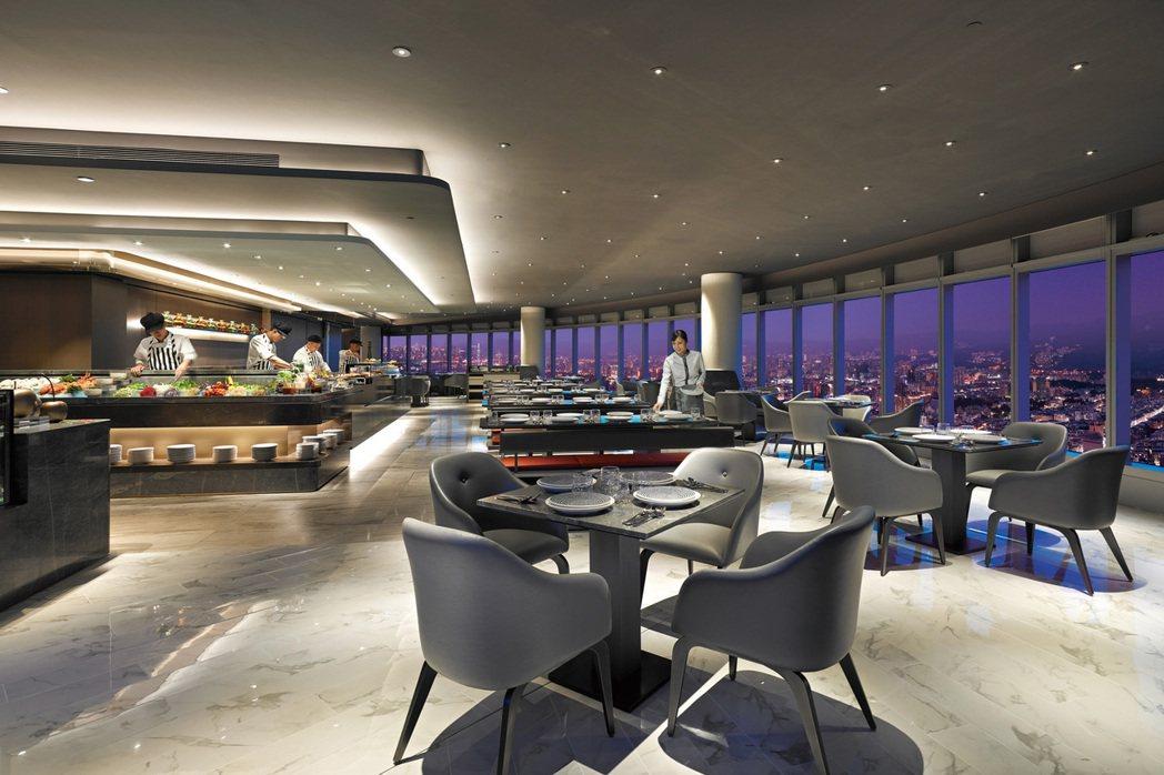 50樓Cafe全國最高自助餐廳。