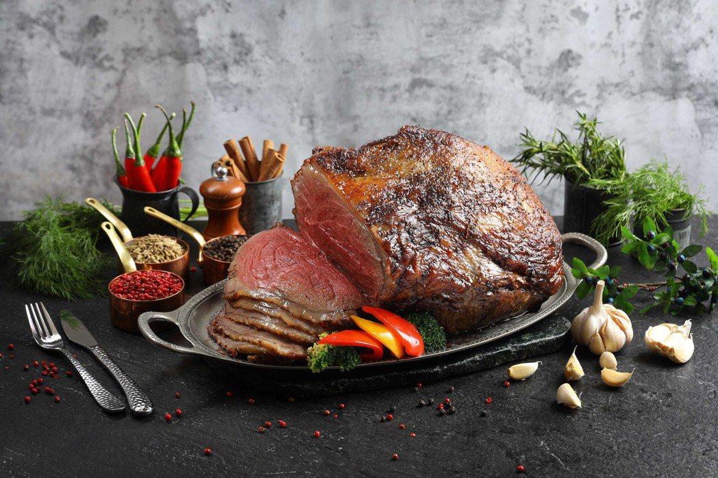 50樓Cafe-爐烤美國牛肉。