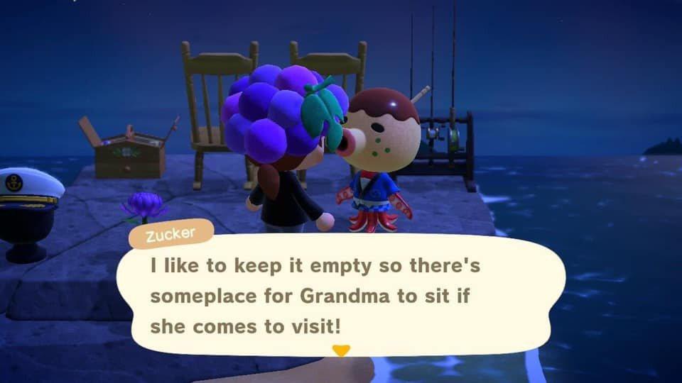 玩家利用動森擺設懷念已故親人,被島民意外回覆觸動心弦。圖擷自Facebook