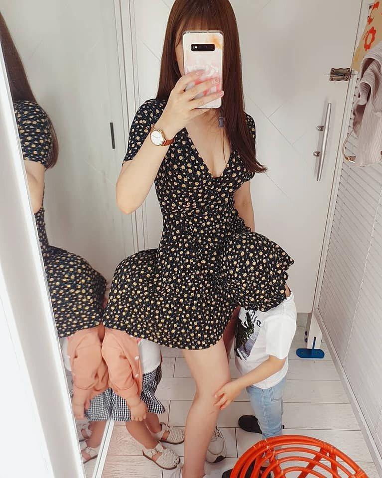網友試穿衣服小孩這舉動笑翻1.9萬人。圖擷自facebook