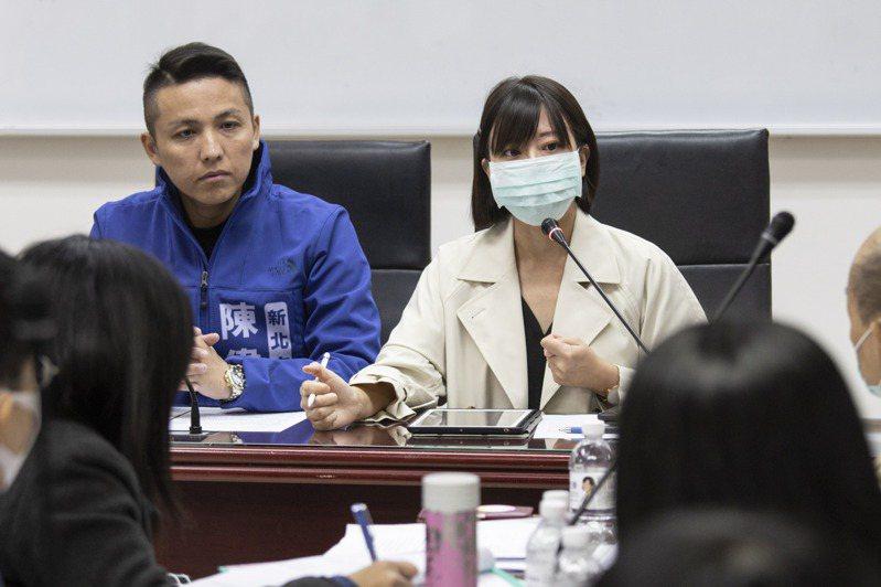新北市議員江怡臻(右1)說,努力過後結果仍遺憾,但會繼續爭取更多親子空間。圖/報系資料照片