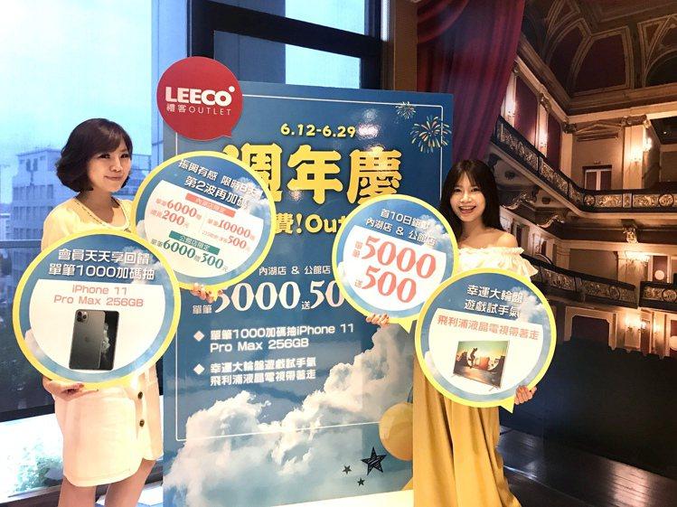 禮客Outlet周年慶今年首度推出第二波加碼。記者江佩君/攝影