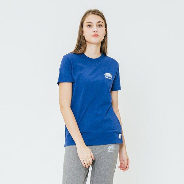 內湖2館Roots藍色logo圓領T恤原價1,580元,周年慶價632元。圖/禮...