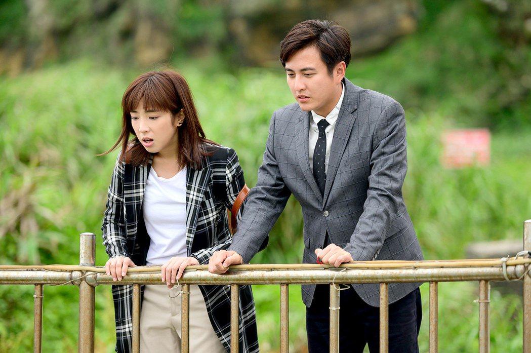 梁舒涵(左)與黃靖倫劇中靈魂互換。圖/TVBS提供