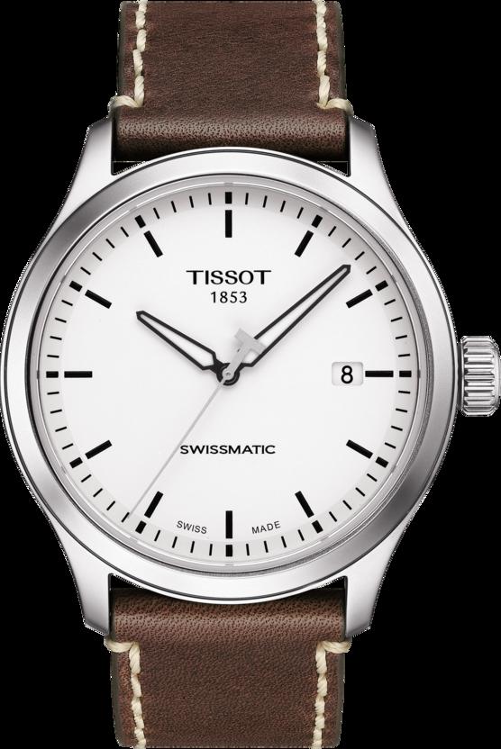 天梭表Gent XL系列自動腕表,不鏽鋼表殼,搭載Swissmatic Niva...