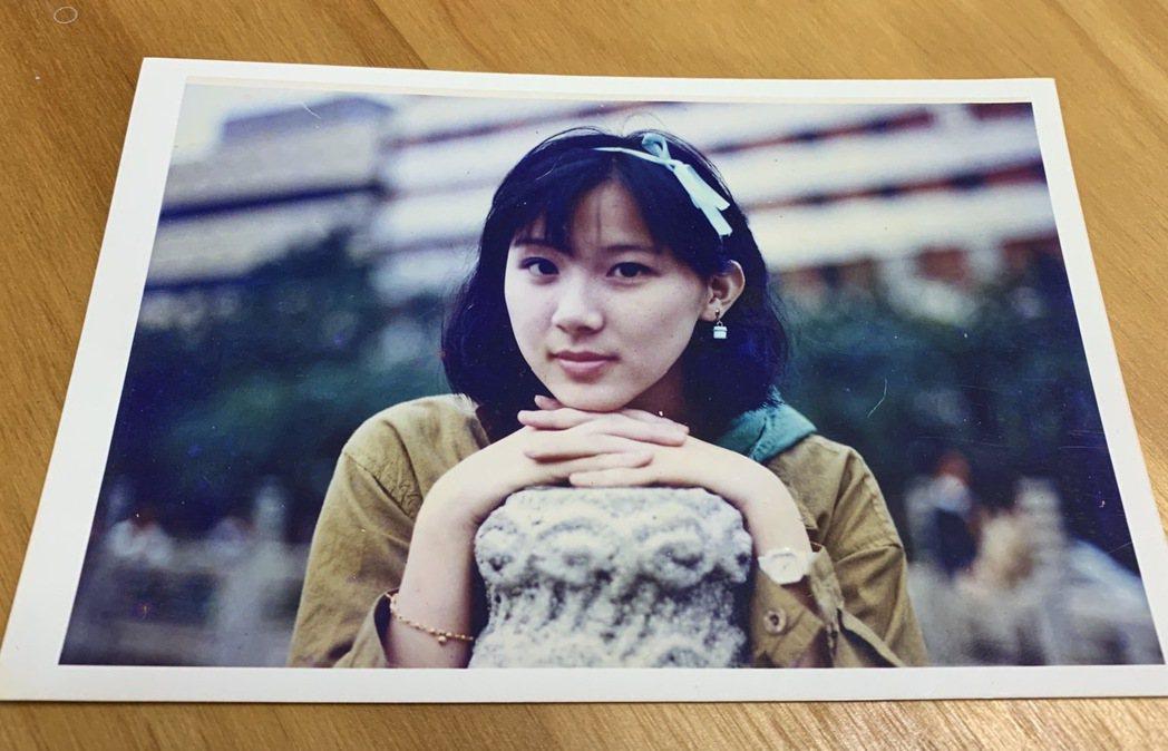 蕭薔高中青澀模樣,當時就是個大美女。記者陳慧貞/翻攝
