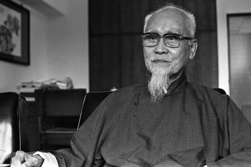 蔡培火是最早注意到電影功能的反殖民運動者,圖攝於1981年。 圖/聯合報系資料照