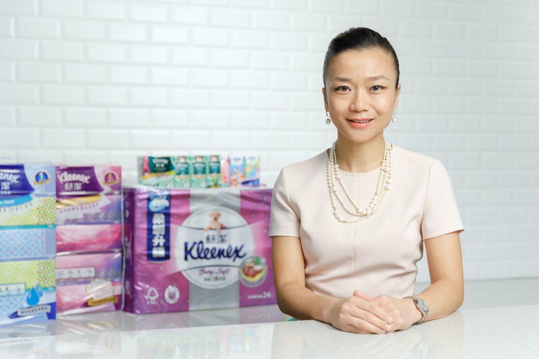金百利克拉克台灣總裁閔慧琳表示,全球每一天有超過四分之一的消費者使用金百利克拉克...