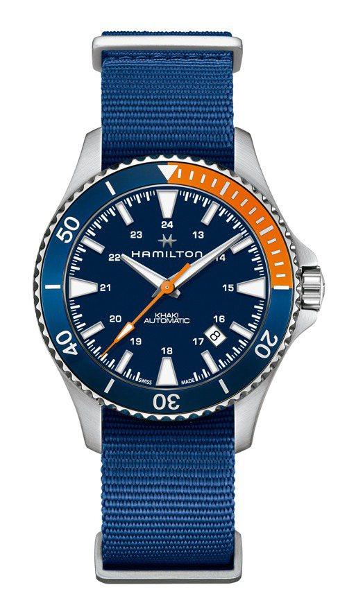 Hamilton,Khaki Scuba腕表,精鋼,時間顯示,自動上鍊機芯,80小時動力儲存,防水100米,22,600元。圖/Hamilton提供