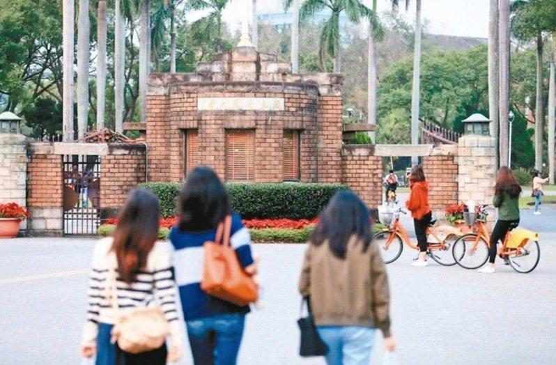 英國高等教育調查公司Quacquarelli Symonds公布2021世界大學排行,國立台灣大學名列66。圖/聯合報系資料照片