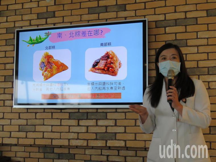 台中市長安醫院營養師劉玲汝指出,每顆粽子的熱量達4百大卡以上,相當於1碗飯,因此...