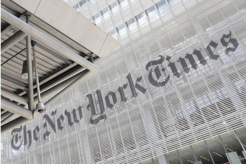 紐約時報(NYT)上周因刊登爭議性文章,遭受內部員工強烈抵制。 美聯社