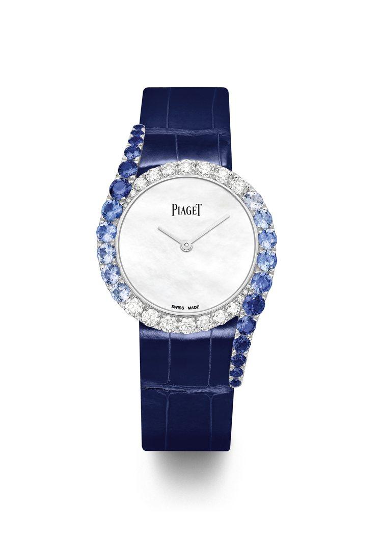 PIAGET,Limelight Gala高級珠寶女表,時間顯示,兩側向外延伸的...