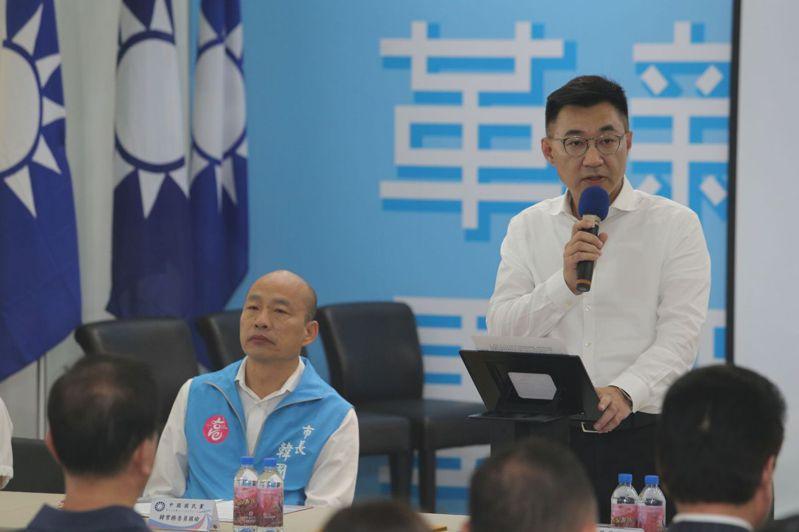 國民黨主席江啟臣。記者劉學聖/攝影