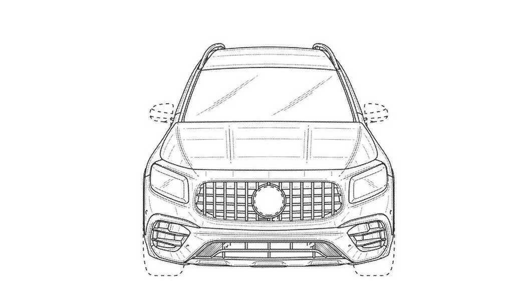 Mercedes-AMG GLB 45專利圖。 摘自USPTO