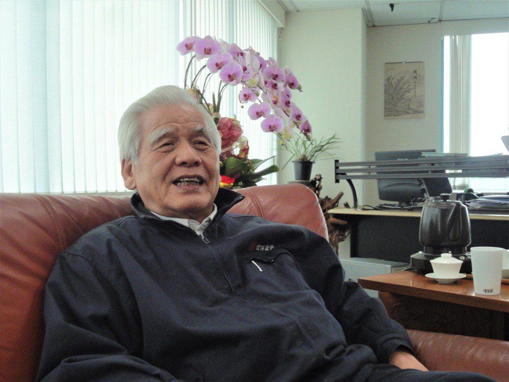 長虹建設董事長李文造大嘆長虹股價「太委屈」!圖/倪子仁提供