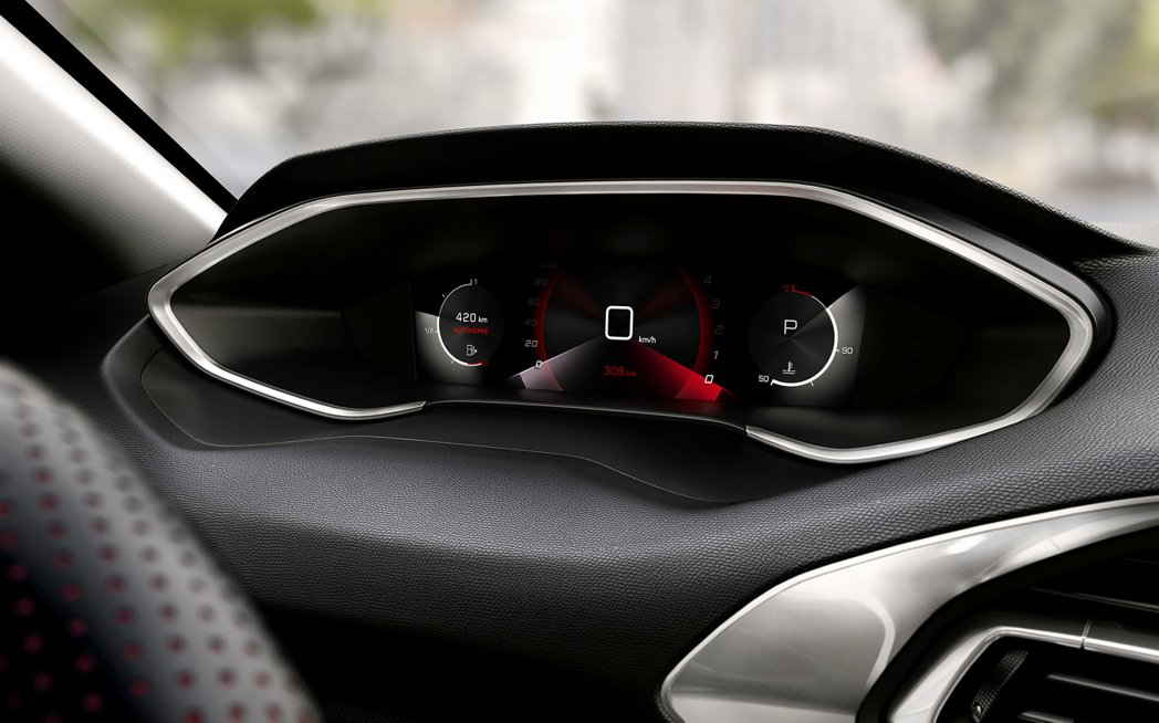 2021年式308新增10吋i-Cockpit高清虛擬儀表。 摘自Peugeot