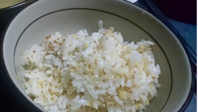 紅藜小麥白米飯,台東達仁部落家常飯。