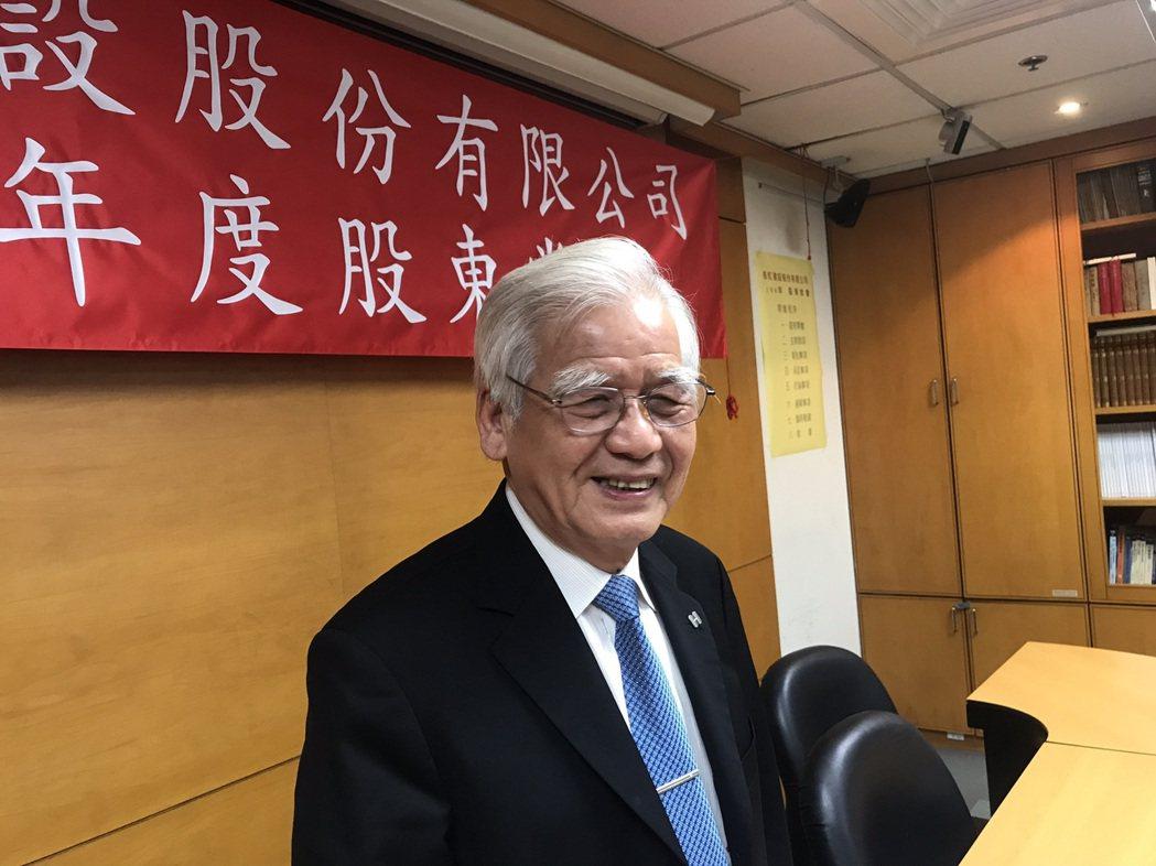 長虹建設董事長李文造。記者游智文/攝影