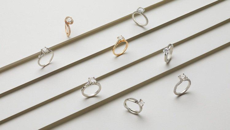顧客可於De Beers官方網站線上訂購訂婚戒指與單鑽戒指。圖/De Beers...