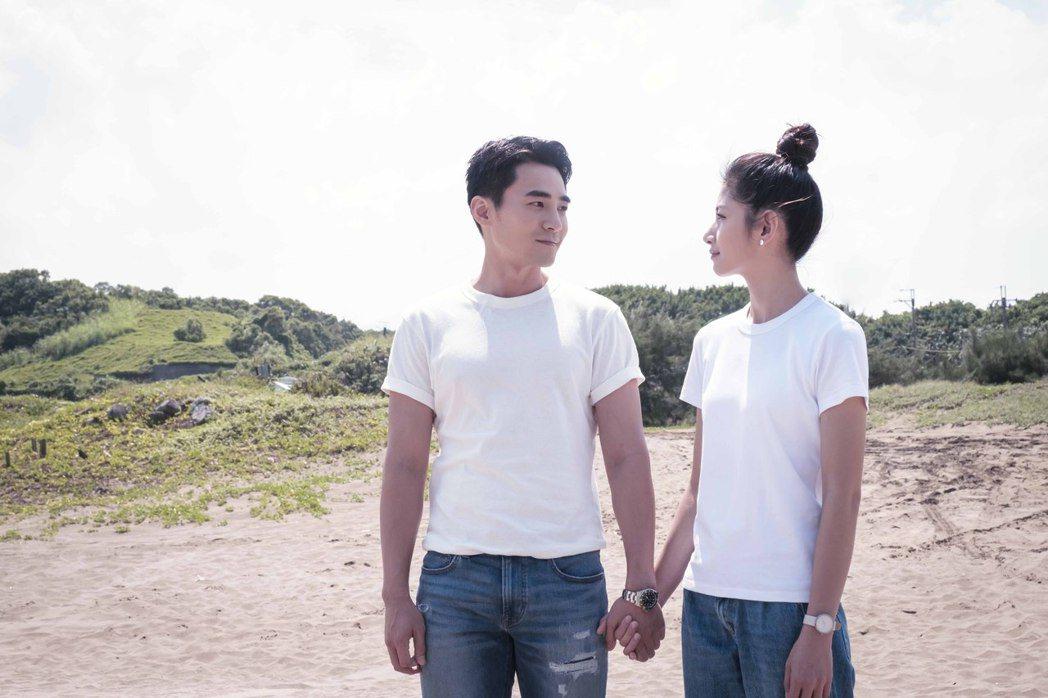 是元介(左)、李千那因合拍華視「守著陽光守著你」結緣。圖/華視提供