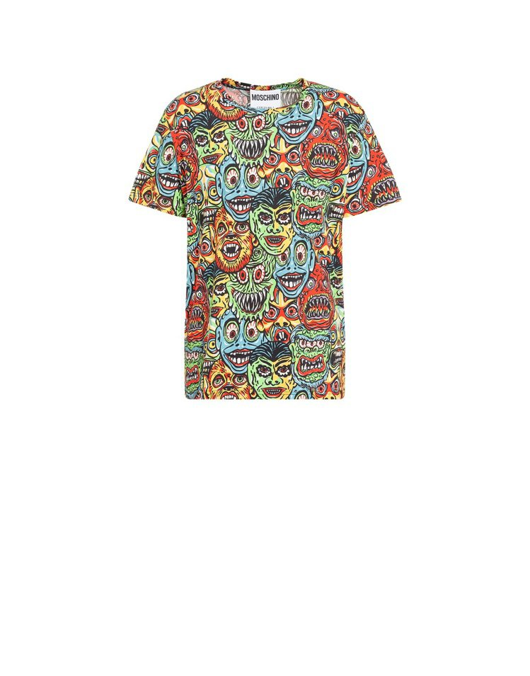 滿版怪物短袖上衣,13,500元。圖/MOSCHINO提供
