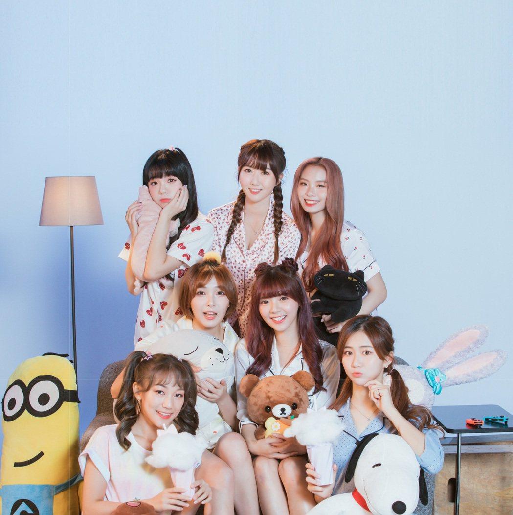 韓團「勵齊女孩」正式出道。圖/韓國Rainbow經紀公司提供