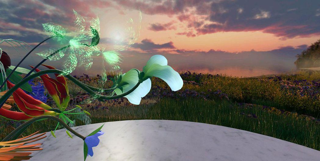 「花之生」透過互動過程決定花朵成長樣貌,美麗又特別。圖/台北電影節提供
