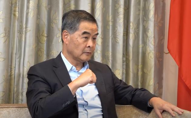 大陸全國政協副主席、香港前特首梁振英。圖/取自陸媒澎湃新聞