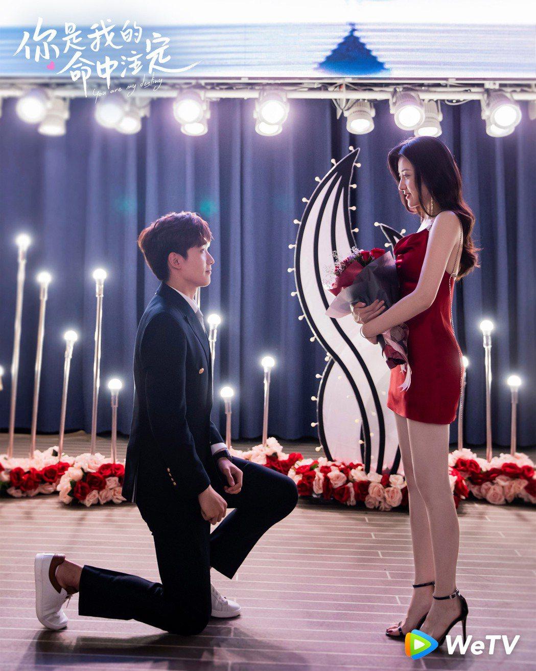 邢昭林(左)與梁潔在「你是我的命中注定」3度合作。圖/WeTV提供