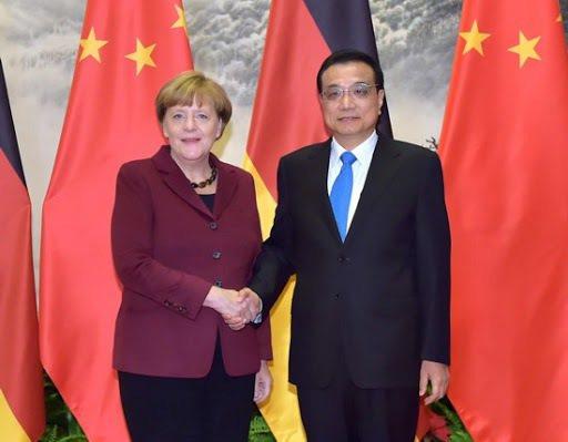總理梅克爾表示,歐洲與中國是夥伴也是競爭者。 圖/取自人民網