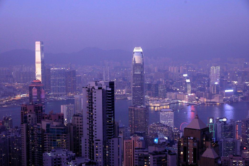 香港太平山頂景色。 路透社